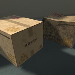 【3Dモデル】段ボール箱 / Cardboard Box