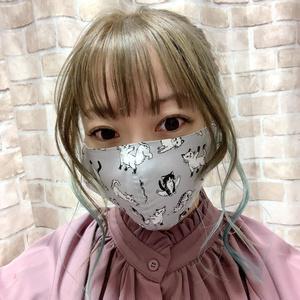 布マスク【猫柄4種】