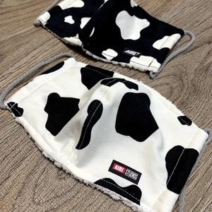 2021🐄牛柄布マスク【タオルでモコモコ♡】