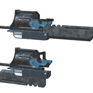 [3Dモデル]大型可変銃剣[VRChat想定]