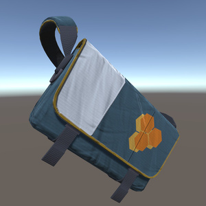 [3Dモデル]メッセンジャーバッグ