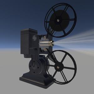 [VRChatワールド向け]フィルムプロジェクター[3Dモデル]