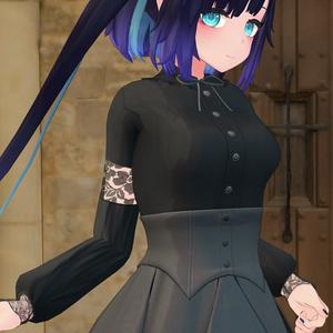 「ぐれーず」用ゴシックドレス