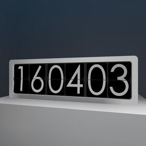 [VRChat想定]パタパタ時計