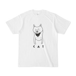 キャットアゴヒゲ 動物イラストTシャツ