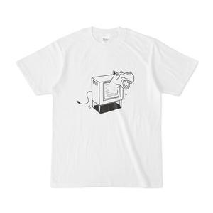 ウマ テレビから飛び出す 馬イラストTシャツ