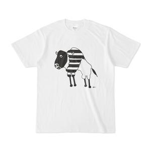バッファロー 動物アートイラストTシャツ