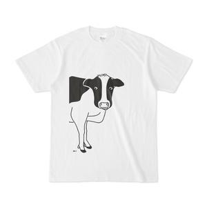 牛が見てる 動物イラストTシャツB