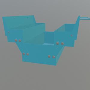 【3Dモデル】ツールボックス 工具箱 バーチャル工具