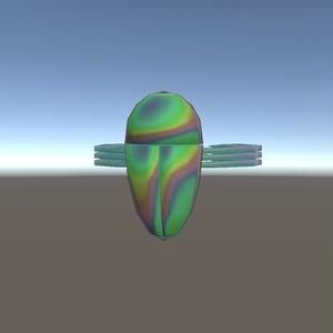【3Dモデル】タマムシシェーダとタマムシリング