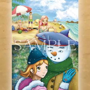 【4枚セット】『春夏秋冬』 ポストカード
