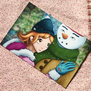 【ポストカード 冬】『Winter love ~Happy~』