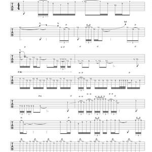 桜花散華 ギターソロタブ譜