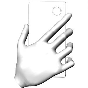 スマホを持つ手 マンガ 3D