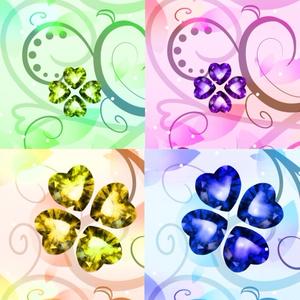 四つ葉の宝石・壁紙