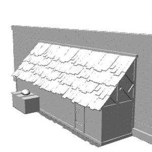城壁沿いの倉庫