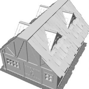 ファンタジーなロフト付きの家