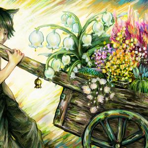 ポストカード4 『花売り少年』