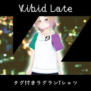 【Vroid用テクスチャ】Vibid Late タグ付きラグランTシャツ