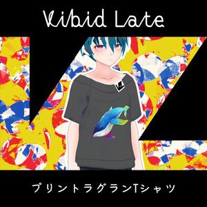 【Vroid用テクスチャ】Vibid Late プリントラグランTシャツ