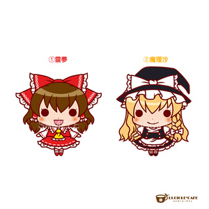 東方Project・ちびキャラステッカー【霊夢・魔理沙】