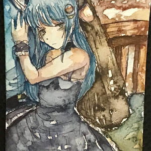 『透明水彩原画』ルナ