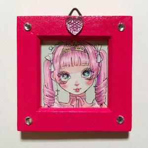 ミニ原画♥お姫様になりたい(ピンク)