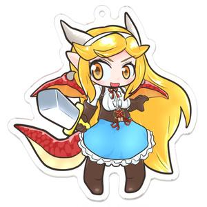竜人の少女アリサ アクリルキーホルダー01