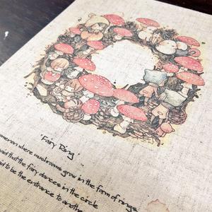 布印刷・複製画『Fairy ring』