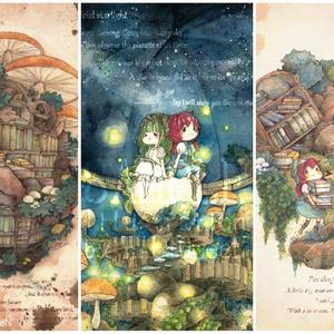 Postcard set【大樹の書庫シリーズ・3種セット】