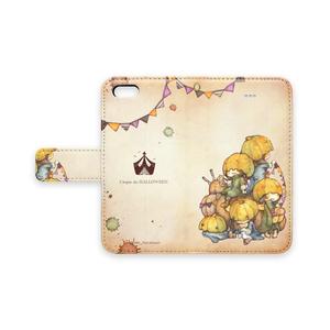 iPhone手帳型ケース【かぼちゃあたま】