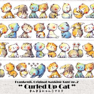 オリジナルマスキングテープ「Curled Up Cat.」