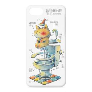 まるねこさんトイレのiPhoneケース(iPhone7)