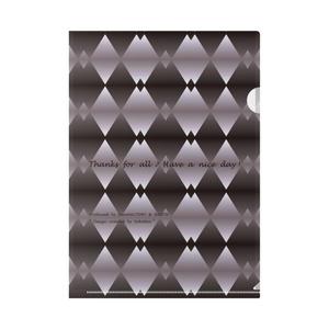 カラーセラピー 色彩療法 ホリスティック 光 音 周波数 すっきり スタイリッシュ 菱形 グラデーション ダイヤ柄 ファイル