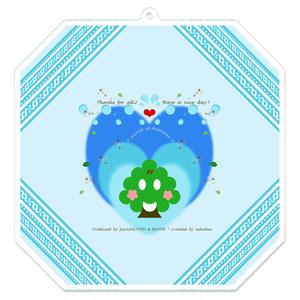 カラーセラピー 色彩療法 ホリスティック 光 音 周波数 夢の森 イラスト 手書き ロゴ animal 動物 アニマル 植物 森林 山 キーホルダー