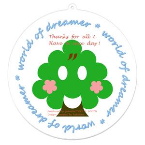 カラーセラピー 色彩療法 ホリスティック 光 音 周波数 夢の森 イラスト 手書き ロゴ forest 森林 plant 植物 山 アクリルキーホルダー