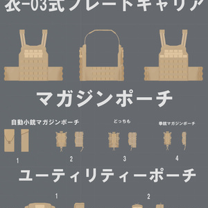 衣-03式プレートキャリア【VRChat向け】