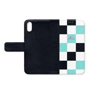 手帳型iPhoneケース - checkers M -