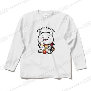 【にゃんぱと。】はんぐりー・りく ロングTシャツ