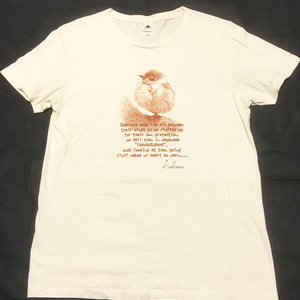 すずめTシャツ(ナチュラル)