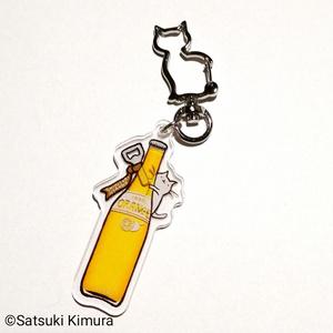 しりとりにゃんこ オレンジジュースのキーホルダー