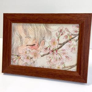 桜と五虎退ポストカード