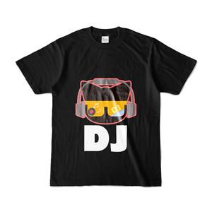 DJねこTシャツ ブラック