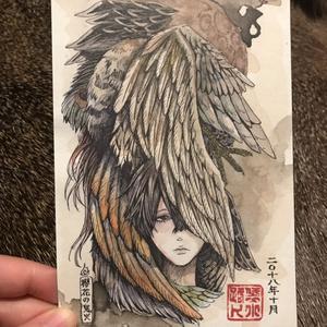 ポストカード【纏う~羽~】