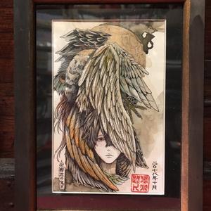 袋小路K アナログ原画【纏う~羽~】