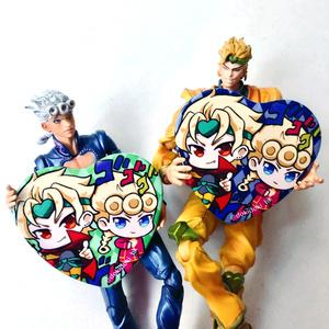 ◆無駄親子ハート型缶バッジ◆