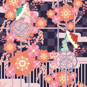 【手帳型ケース】春らんまん-夜桜/受注生産