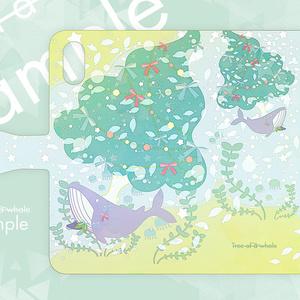 【手帳型ケース】Tree of a whale(クジラの木)/受注生産