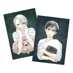 あざとかわいい師弟ポストカード2枚セット【在庫僅少】