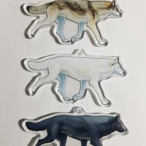 オオカミ全身骨格アクリルキーホルダー